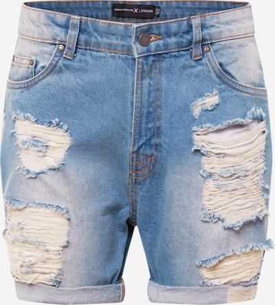 Jeans Urban Threads di colore blu denim, Visualizzazione prodotti