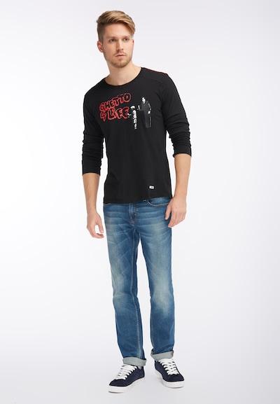 HOMEBASE Longsleeve in rot / schwarz, Produktansicht