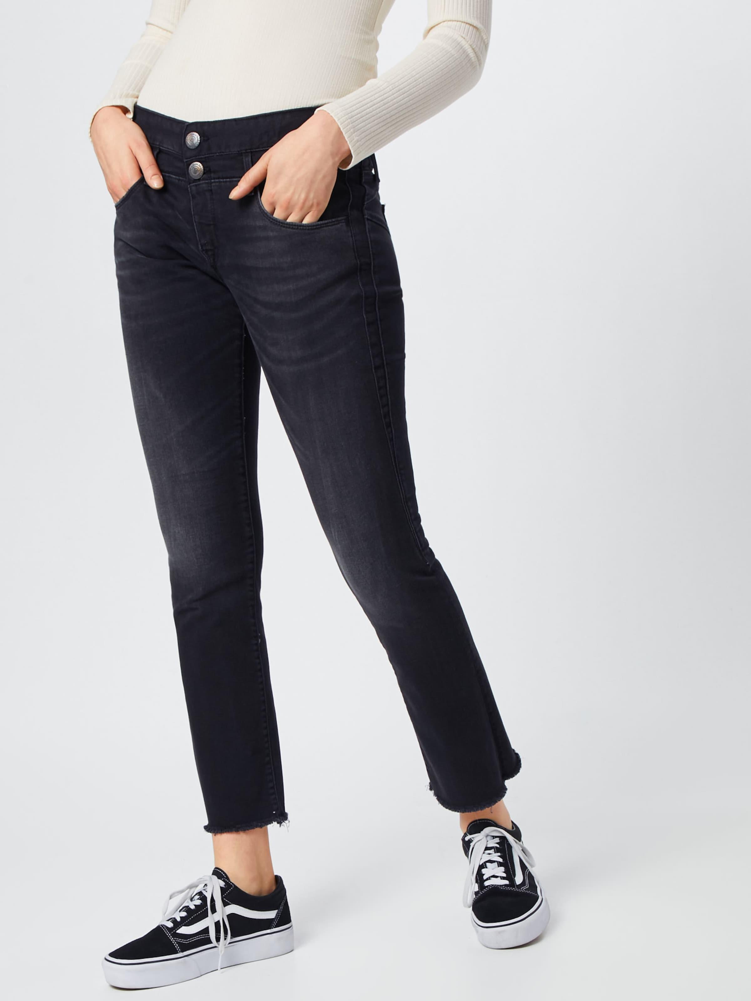 Stretch' Denim In Cropped Herrlicher Schwarz Black Jeans 'baby fm76vIYbgy