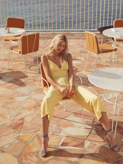Salopeta 'Riecke' LeGer by Lena Gercke pe galben: Privire frontală
