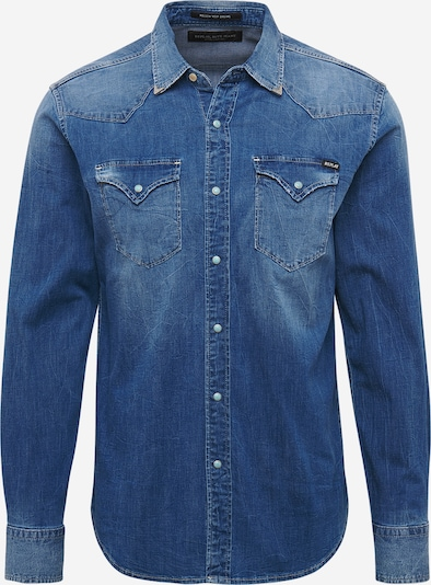 REPLAY Hemd in blue denim, Produktansicht