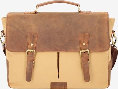 Dermata Aktentasche in sand / hellbraun, Produktansicht