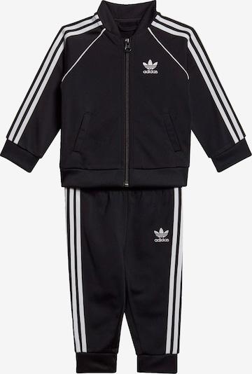 ADIDAS ORIGINALS Trainingsanzug in schwarz / weiß, Produktansicht