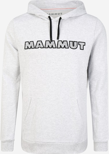 MAMMUT Sportsweatshirt in de kleur Lichtgrijs / Zwart, Productweergave