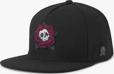 Cayler & Sons Casquette 'Death Rose' en rouge / noir / blanc, Vue avec produit