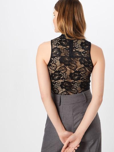 Top 'Ladies Lace Body' Urban Classics pe negru: Privire spate