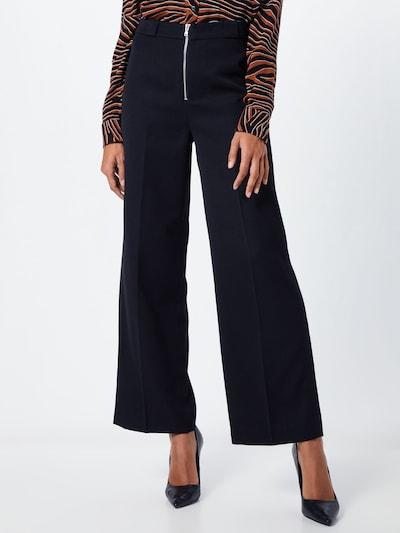 Kelnės su kantu 'Grace' iš NORR , spalva - juoda: Vaizdas iš priekio