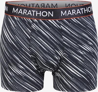 MARATHON Shorts in dunkelgrau / weiß, Produktansicht