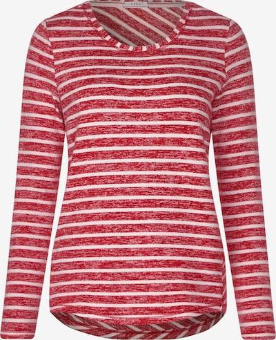 CECIL Shirt in de kleur Rood gemêleerd / Wit: Vooraanzicht