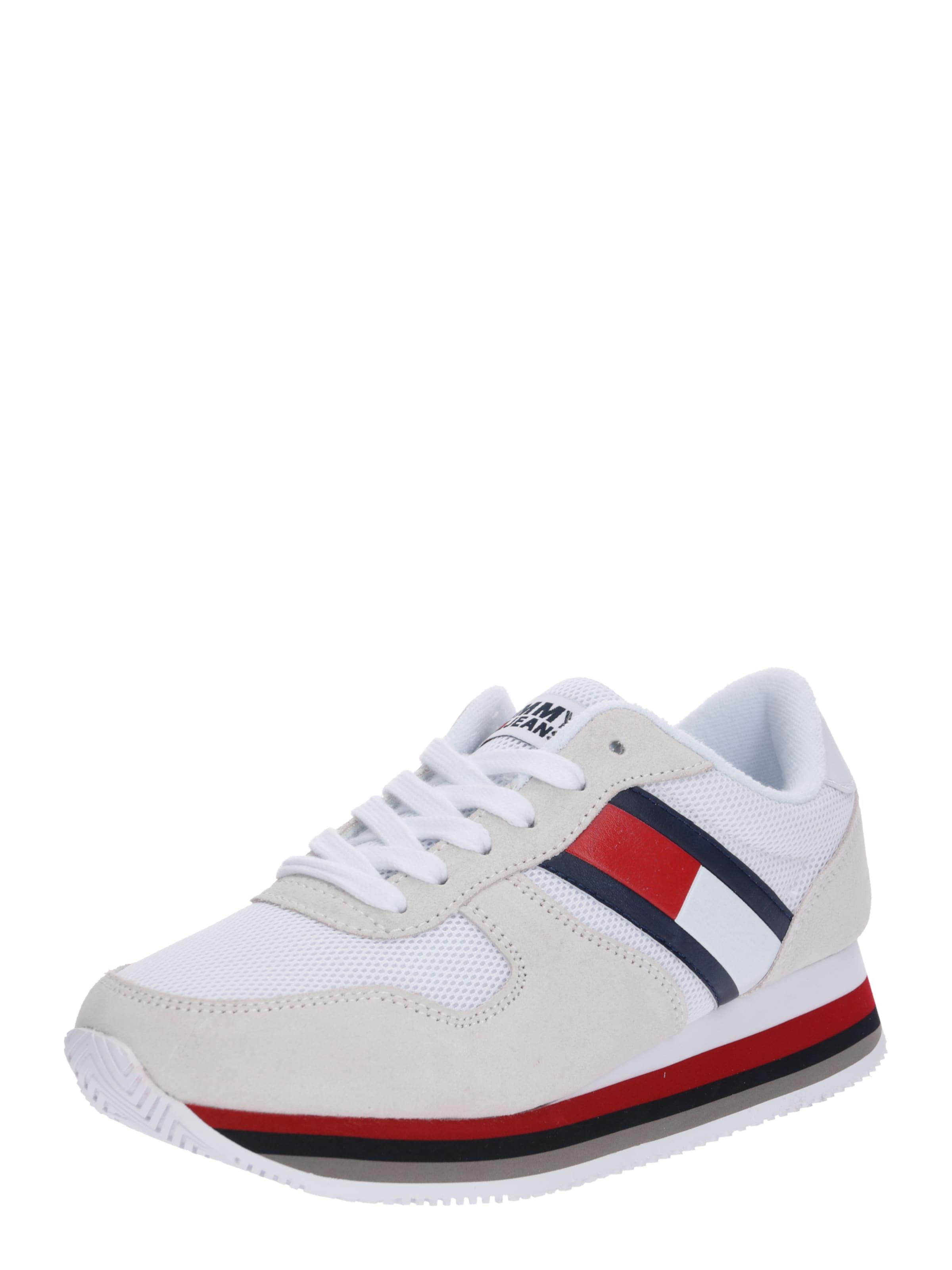 Jeans Sneaker Tommy 'lagoon 4c' Offwhite In RotWeiß FK1JTlu5c3