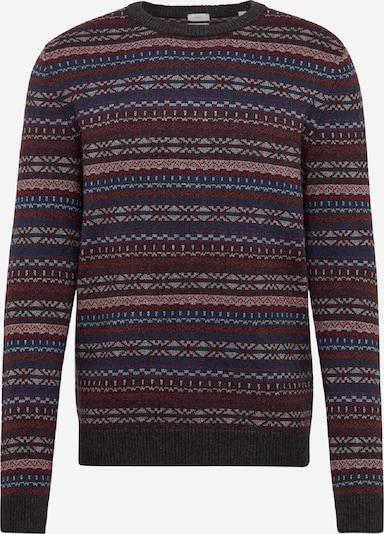 ESPRIT Pullover 'Allover' in dunkelblau / bordeaux, Produktansicht