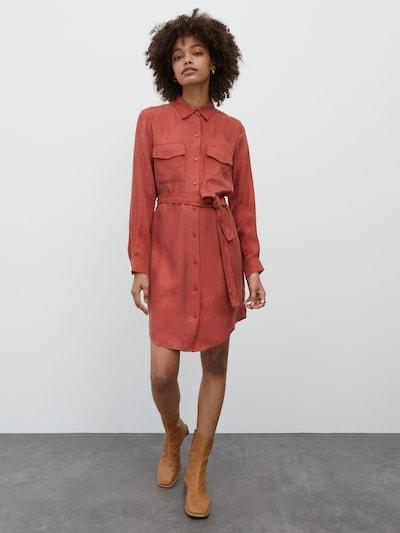EDITED Kleid 'Farha' in orange / orangerot, Modelansicht