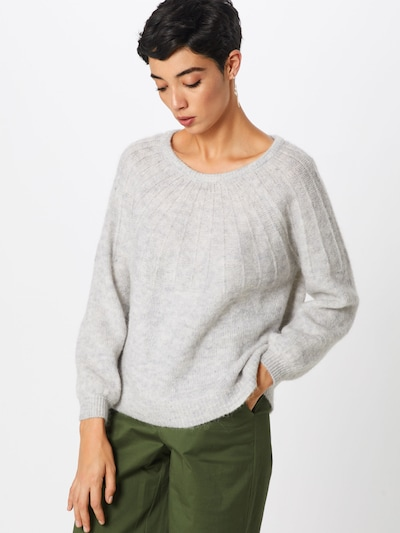 ONLY Pullover in hellgrau: Frontalansicht