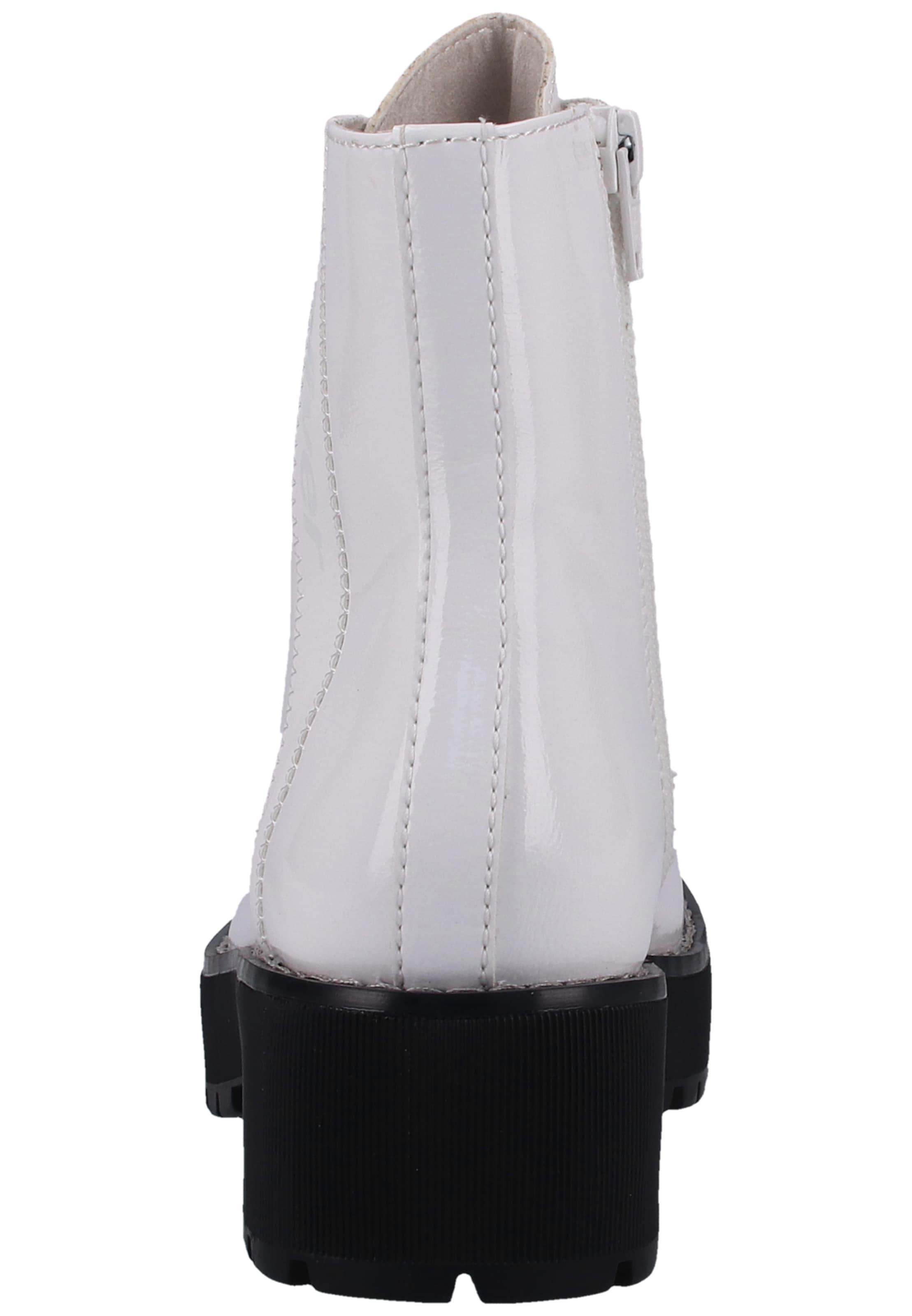 oliver S Blanc Bottines À Label Red En Lacets OZPXuik