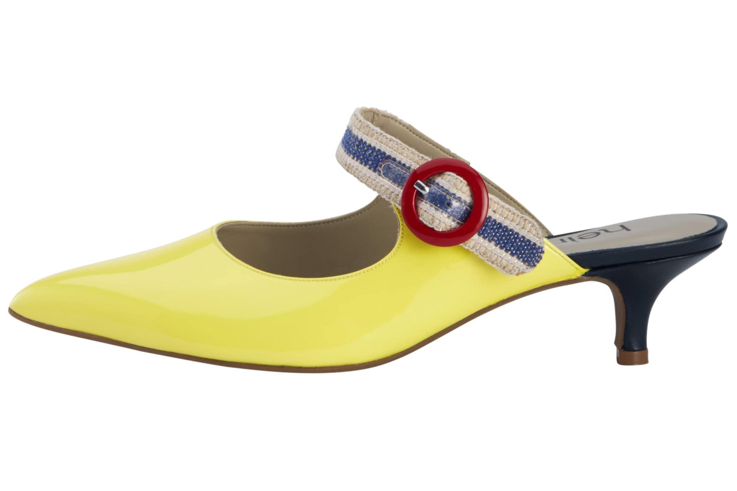 Heine Sabot in blau   gelb   merlot