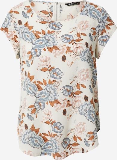 ONLY T-Shirt in rauchblau / hellbraun / puder / weiß, Produktansicht