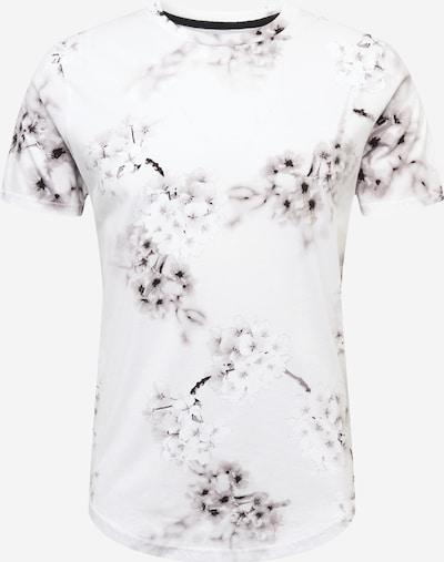 HOLLISTER Shirt 'CURVED' in de kleur Pastellila / Zwart / Wit, Productweergave