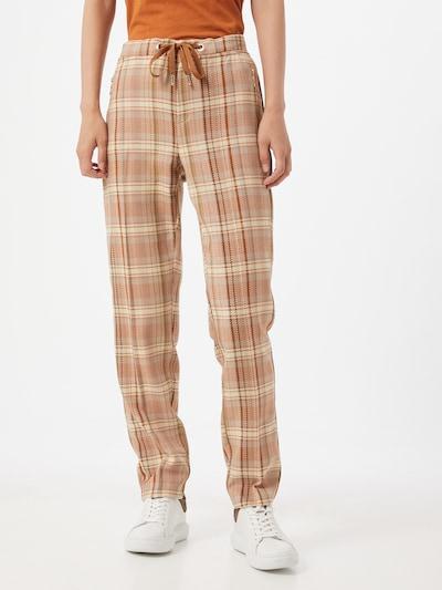 MOS MOSH Kalhoty 'Gabbi Janelle' - béžová / olivová / broskvová, Model/ka