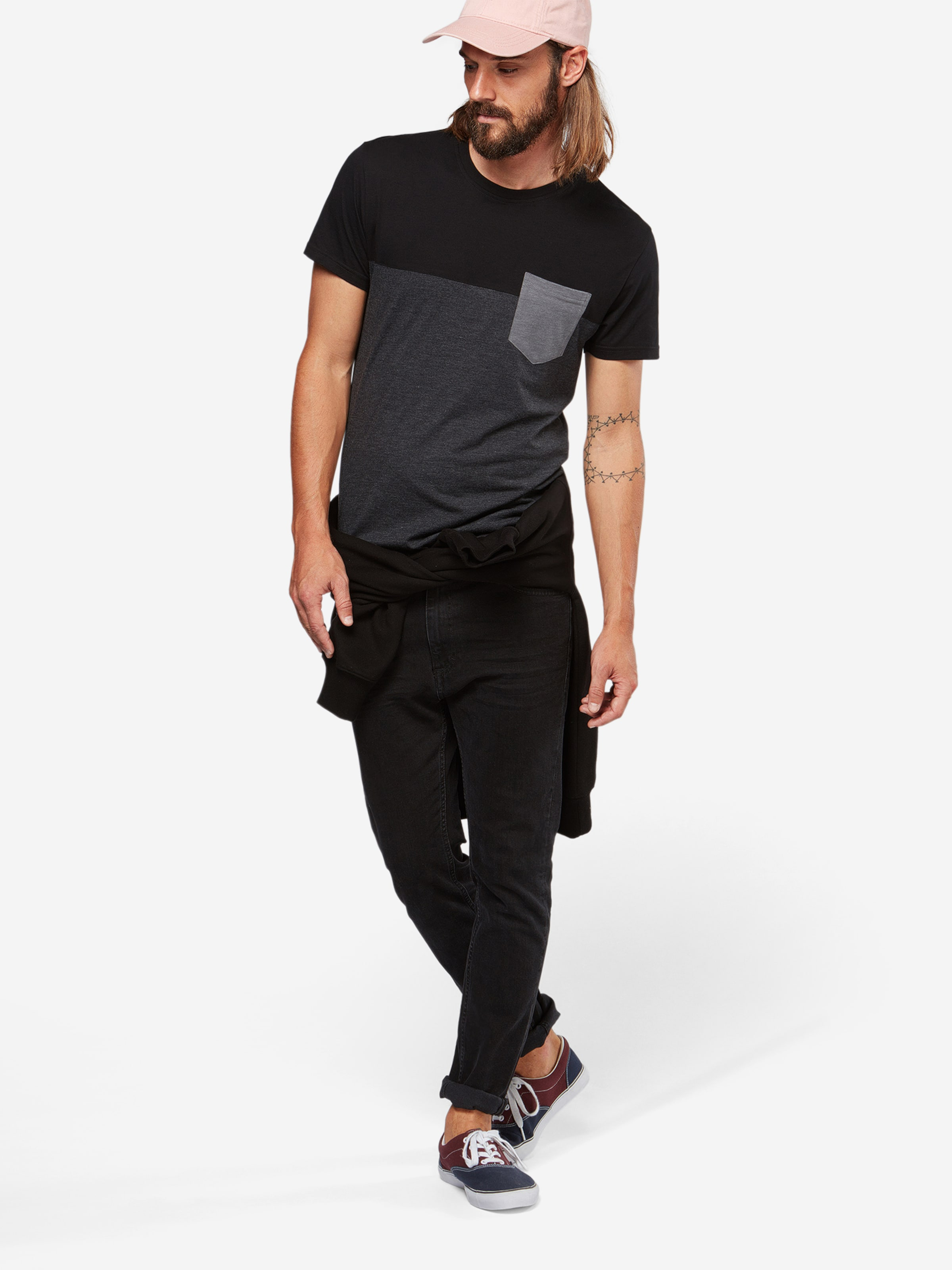 T Iriedaily shirt GrauSchwarz In N8mwn0