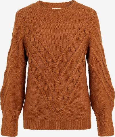 PIECES Pullover in rostbraun, Produktansicht