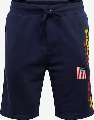 POLO RALPH LAUREN Kalhoty 'NEON FLEECE-SHO' - námořnická modř / žlutá, Produkt