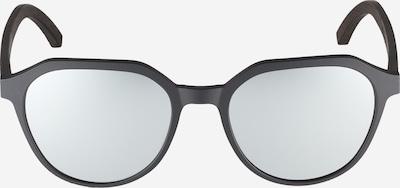 TAKE A SHOT Zonnebril 'Hector: Schwarzes Eichenholz' in de kleur Zwart, Productweergave
