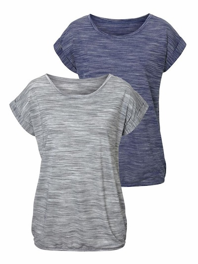 BEACH TIME T-Shirts (2 Stck.) in blaumeliert / graumeliert, Produktansicht