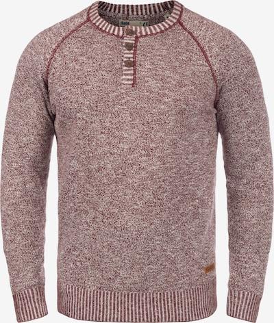 !Solid Strickpullover 'Thiago' in rot / weiß: Frontalansicht