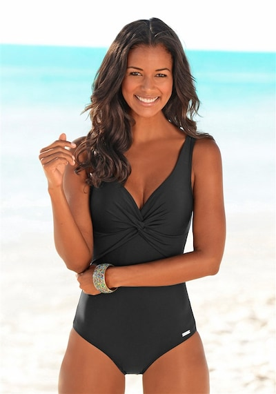 Uždaras maudymosi kostiumėlis iš LASCANA , spalva - juoda, Modelio vaizdas