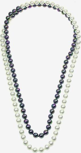 Perlas Orquidea Perlenkette 'Black&White' in schwarz, Produktansicht