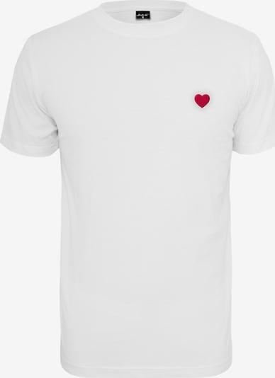 piros / fekete / fehér Mister Tee Póló 'Heart': Elölnézet