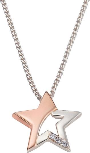 FIRETTI Halsschmuck: Halskette »Stern« in Panzerkettengliederung mit Zirkonia in rosegold / silber, Produktansicht