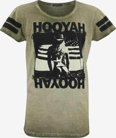 trueprodigy T-Shirt 'Devin' in khaki: Frontalansicht