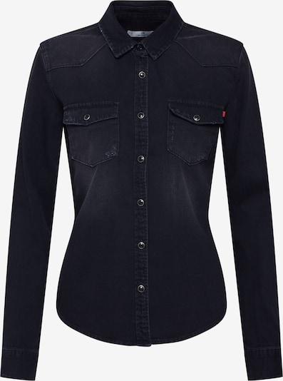 LTB Bluse 'Lucinda' in black denim, Produktansicht