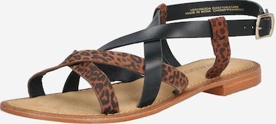 VERO MODA Sandale 'MARY' in braun / schwarz, Produktansicht