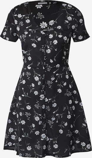 Missguided Summer dress 'BUTTON THROUGH TEA DRESS SS FLORAL' in black, Item view
