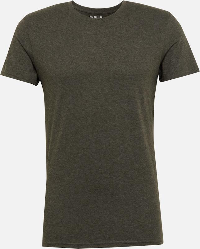 Vert T shirt Melange' 'rock Foncé solid En ymN0nO8vw