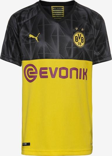 PUMA Fußballtrikot 'Borussia Dortmund 19/20 3rd' in limone / grau / schwarz, Produktansicht