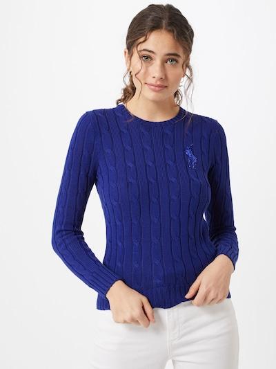 POLO RALPH LAUREN Pulover | modra barva, Prikaz modela