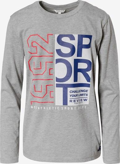 REVIEW FOR TEENS Sweatshirt in navy / grau / rot / weiß, Produktansicht
