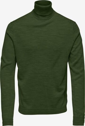 Only & Sons Rollkragen Pullover in dunkelgrün, Produktansicht