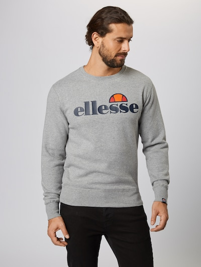 ELLESSE Sweat-shirt en gris chiné / mélange de couleurs: Vue de face