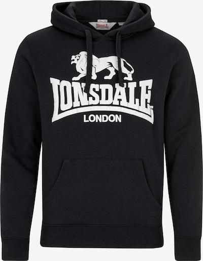 LONSDALE Sweatshirt 'GOSPORT 2' in schwarz / weiß, Produktansicht