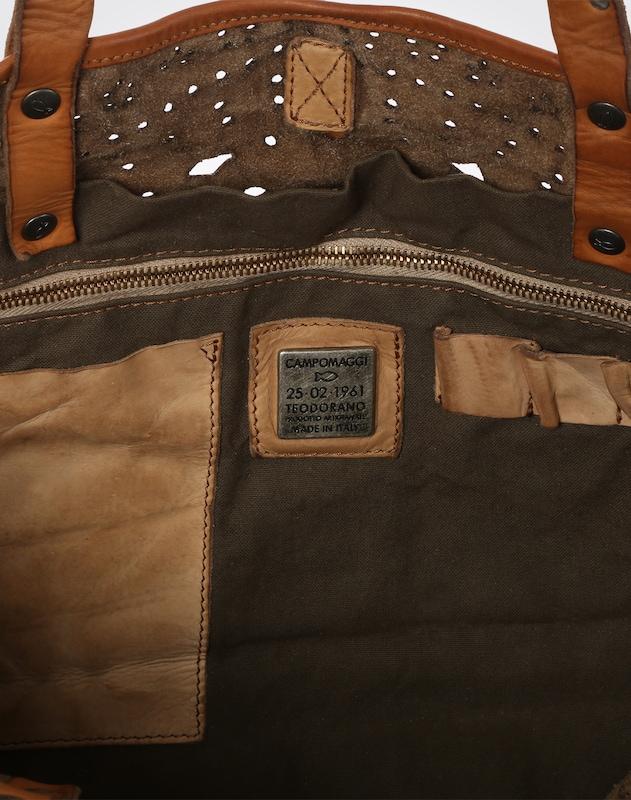 Campomaggi Handtasche mit Lochmuster