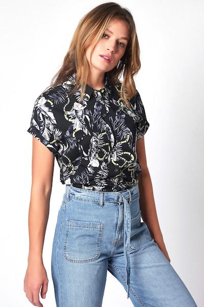 DESOTO Bluse in schwarz / weiß, Modelansicht
