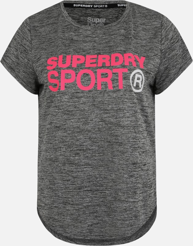 Superdry Funktionsshirt 'ACTIVE LOOSE FIT TEE' in grau / pink, Produktansicht