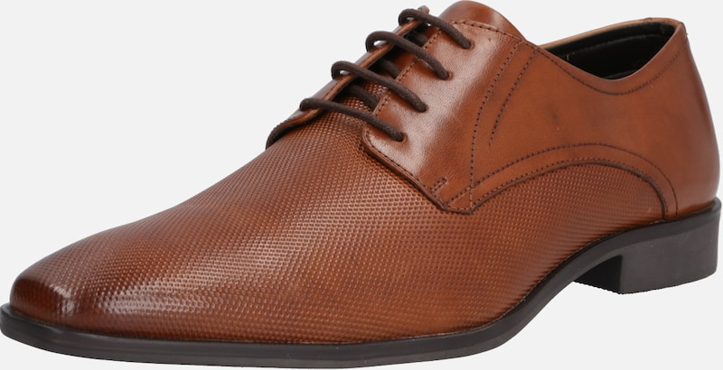 ABOUT YOU Halbschuhe 'Bastian' in cognac | ABOUT YOU