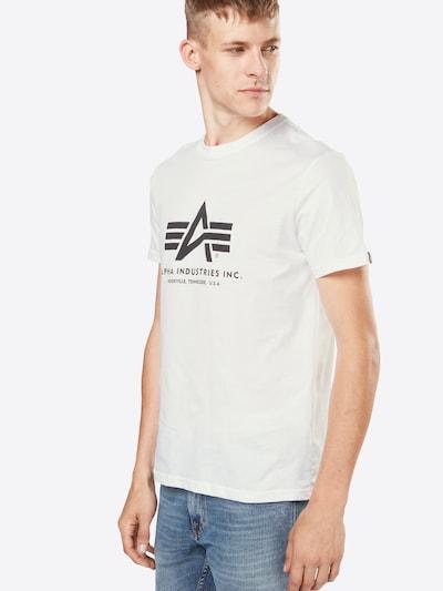 ALPHA INDUSTRIES Print-Shirt in weiß: Frontalansicht