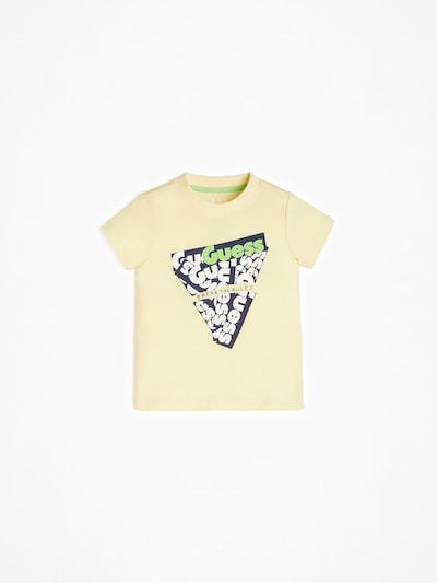 GUESS KIDS T- Shirt in gelb / schwarz, Produktansicht