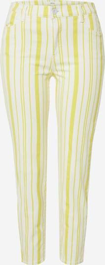 BRAX Jean 'SHAKIRA' en jaune / blanc, Vue avec produit